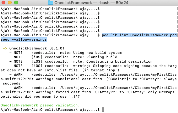 cocoapods step5.2