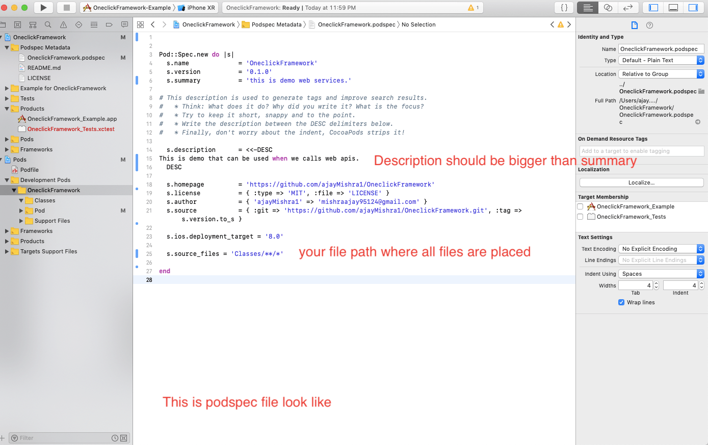 cocoapods step5