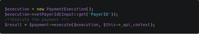 payment execute