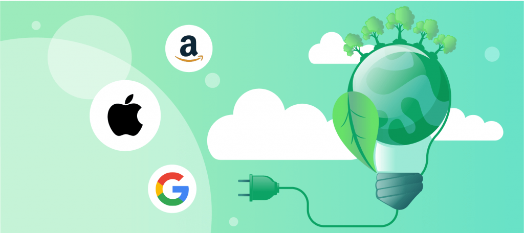 Tech Companies and Renewable resources - banner