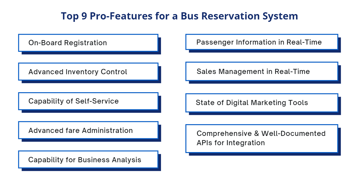 Top 9 Pro-Features for a Bus Reservation System