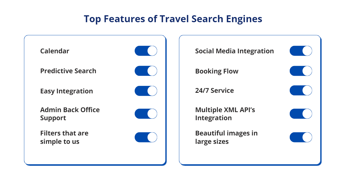 Top Features of Travel Search Engines
