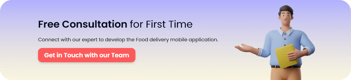 Food Delivery App and Restaurant App Review CTA